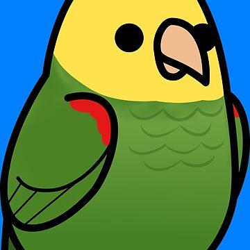 ¡Demasiadas aves! - Amazona de cabeza amarilla de MaddeMichael