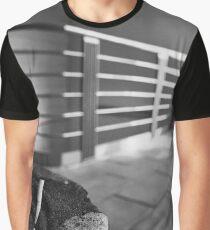 Concrete Ashtray Close Up Cigarette Butts  Graphic T-Shirt