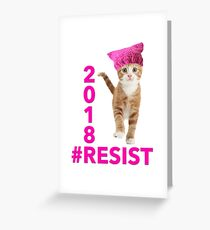 Resistance Kitty 2018 Greeting Card