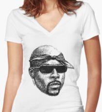 Scribbled Rap God Shirt mit V-Ausschnitt