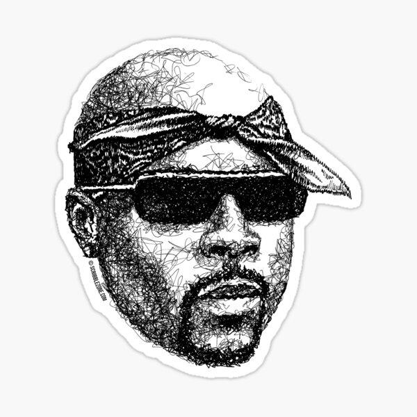 Scribbled Rap God Sticker