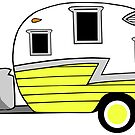 «Shasta Camper Vintage RV Old School Amarillo» de Statepallets
