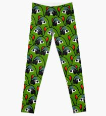 Too Many Birds! - Hahn's Macaw Leggings