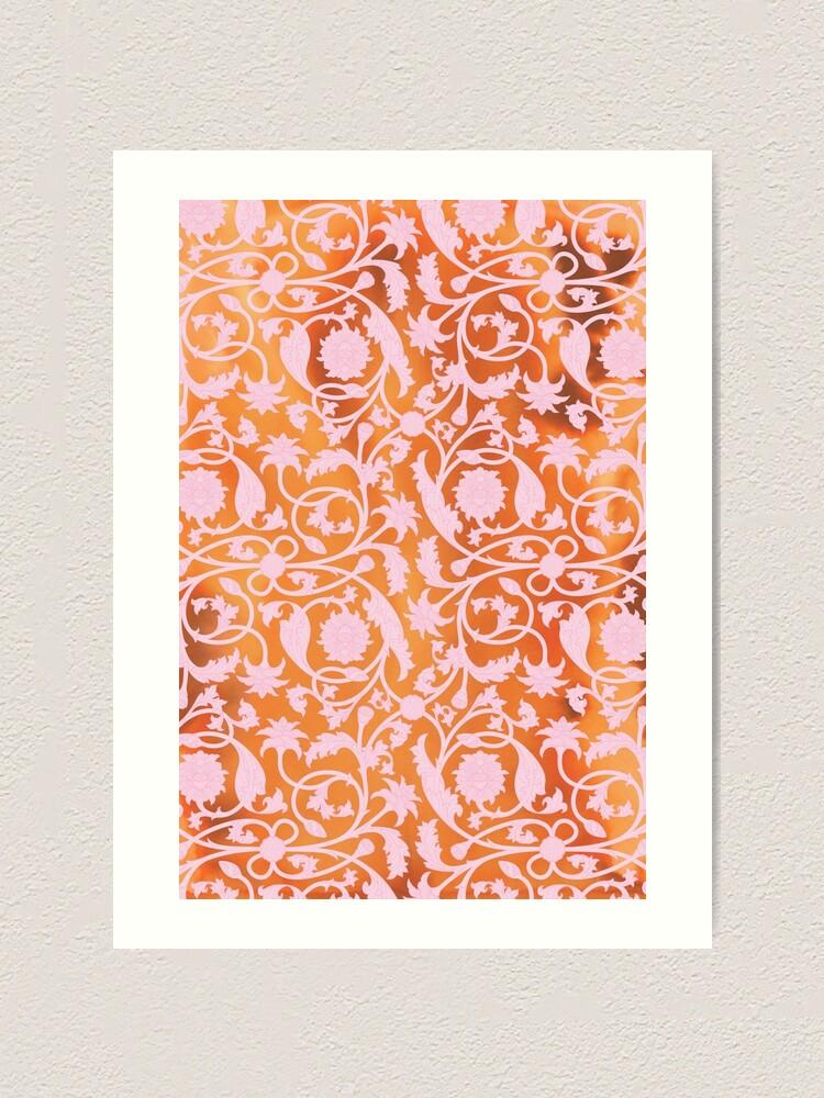 Alternate view of Pink Lotus Pattern Art Print