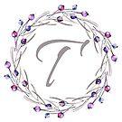 Monogramm-Buchstabe T | Personalisiert | Aquarell Design von PraiseQuotes