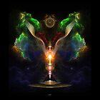 Flügel auf dem Herzen des Lichtes - knistern Sie Beschaffenheit von xzendor7