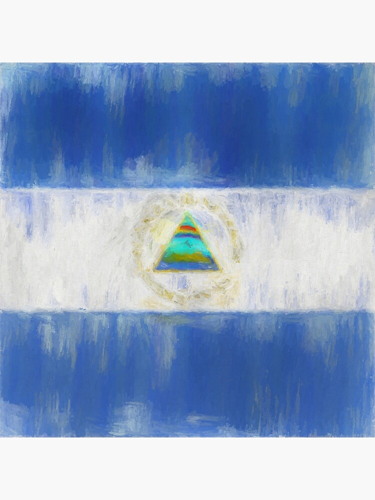 Nicaragua Flag Reworked No. 1, Series 2 by 8th-and-f