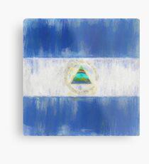 Nicaragua Flag Reworked No. 1, Series 2 Metalldruck