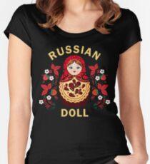 Matryoshka Doll Russian Doll Khokhloma Women's Fitted Scoop T-Shirt