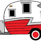 «Camper vintage Shasta rojo rv» de Statepallets