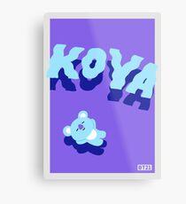 BT21 Koya Metal Print