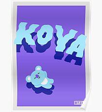 Póster BT21 Koya