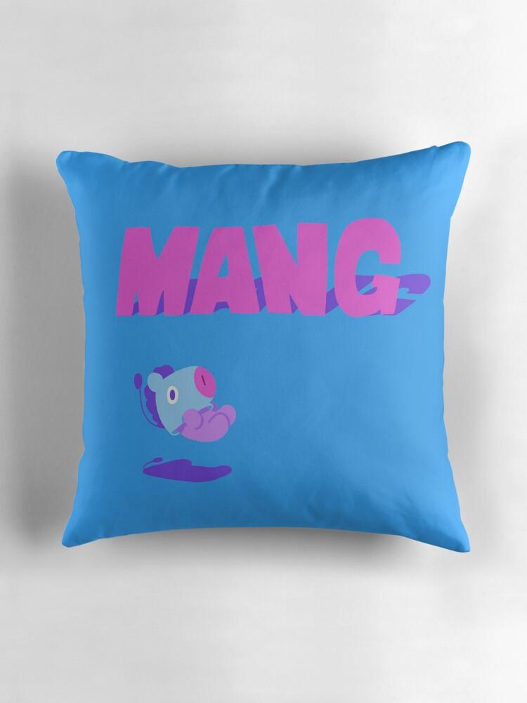 Quot Bt21 Mang Quot Throw Pillows By Zerokara Redbubble