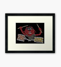 """""""Animal"""" The Crazy Drummer of the Muppet Show Framed Print"""