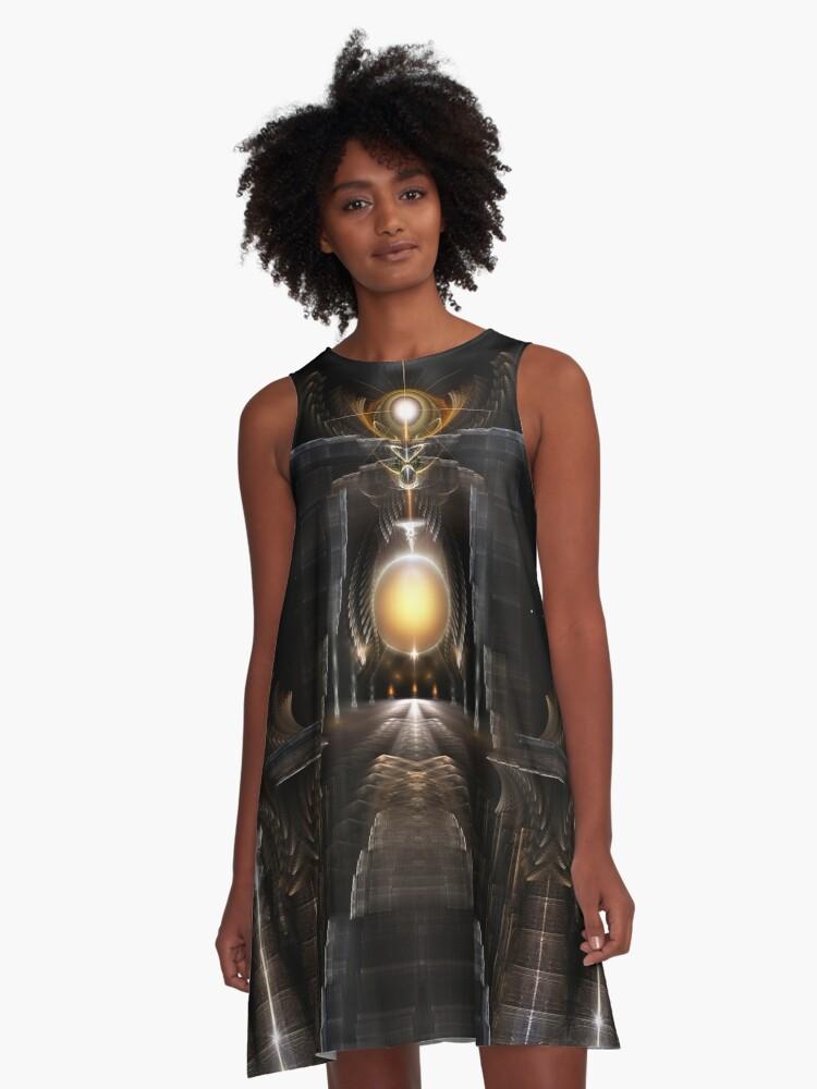 Orb Of Acrellis A-Line Dress Front