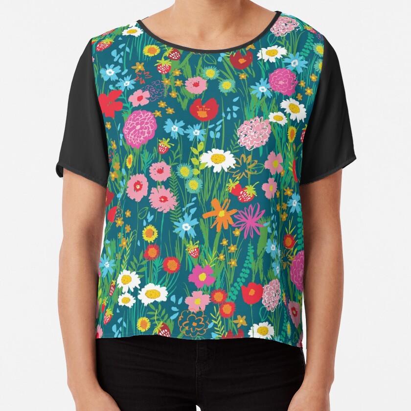 Wildflowers Chiffon Top