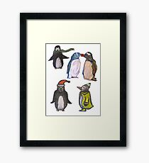 Penguin party Framed Print