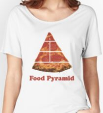 Food Pyramid Pizza Women's Relaxed Fit T-Shirt