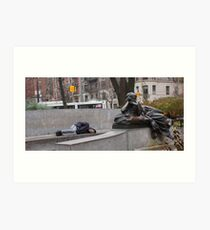 nap in the park Art Print