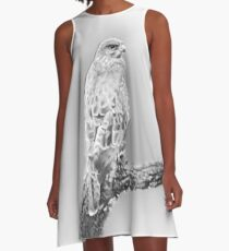 Lonely grey eagle A-Line Dress