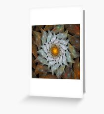 'Flower Sun' Greeting Card