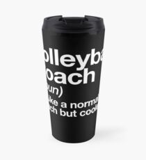 Volleyball Coach Funny Definition Trainer Gift Design Travel Mug