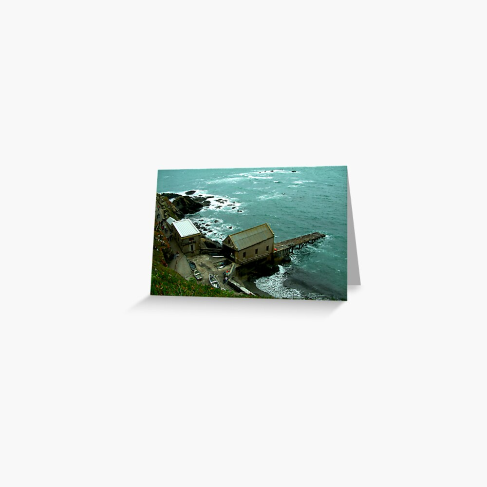 Lizard Lifeboat Station, Kilkobben Cove, Cornwall, England Greeting Card