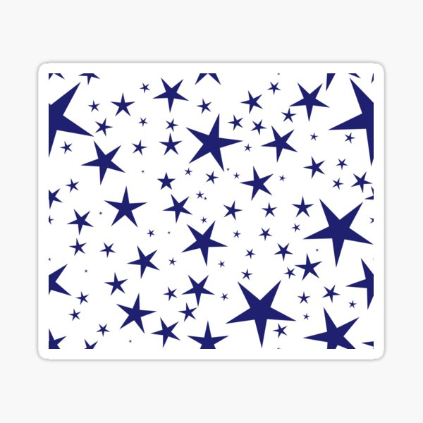 NDVH Stars (blue on white) Sticker