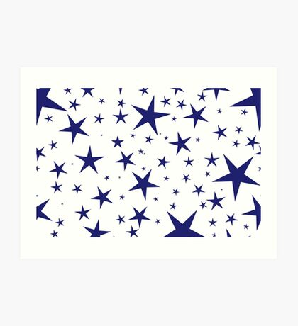 NDVH Stars (blue on white) Art Print