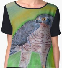 l' Epervier Kestrel drawing Chiffon Top