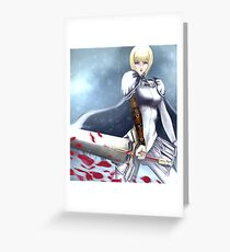 Claymore Greeting Card