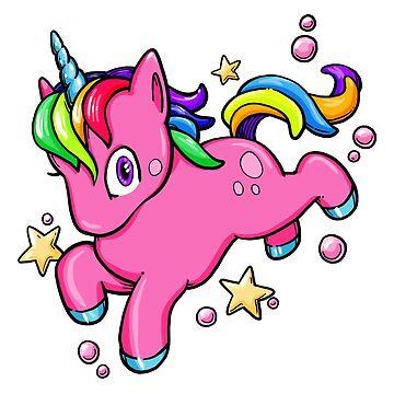 Magical Rainbow Unicorn by mizzlecat