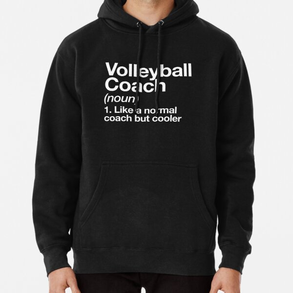Volleyball Coach Funny Definition Trainer Gift Design Pullover Hoodie