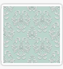 Floral damask seamless pattern Sticker
