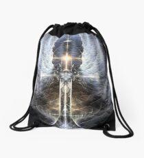 Heavenly Angel Wings Cross Drawstring Bag