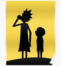 Rick and Morty - Sunset Silhouette Poster