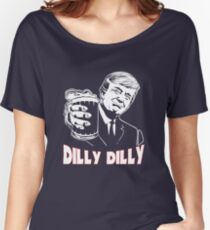 Donald Trump Bud Light Official Dilly Dilly T-Shirt Patrick's Day Gift Tess Women's Relaxed Fit T-Shirt
