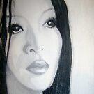Woman Drawing by Dea B