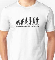 Evolution world's best lawyer T-Shirt