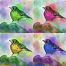 Cute Pop Art Painting of a Robin by ibadishi