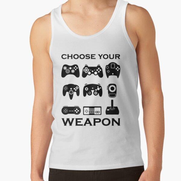 Eat Sleep GAME pac ghost gamer funny geek nerd mens top Tank Top Vest