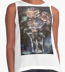 Flowers - Three Abstract Roses Contrast Tank