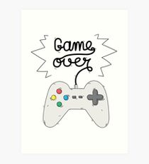 Game Over - Gamer Art Print
