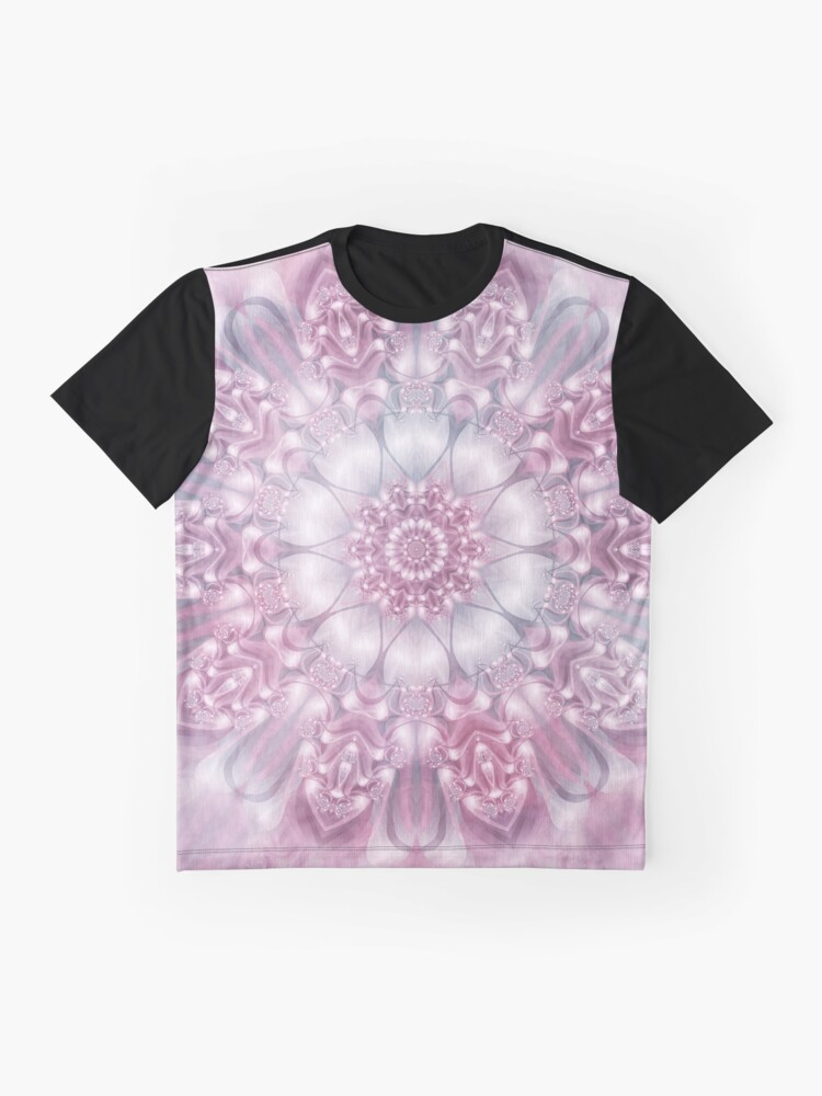 Alternate view of Dreams Mandala in Pink, Grey, and White Graphic T-Shirt