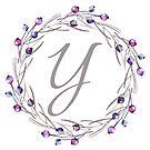 Monogramm-Buchstabe Y | Personalisiert | Aquarell Design von PraiseQuotes