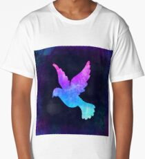 DOVE IN SPACE! Long T-Shirt