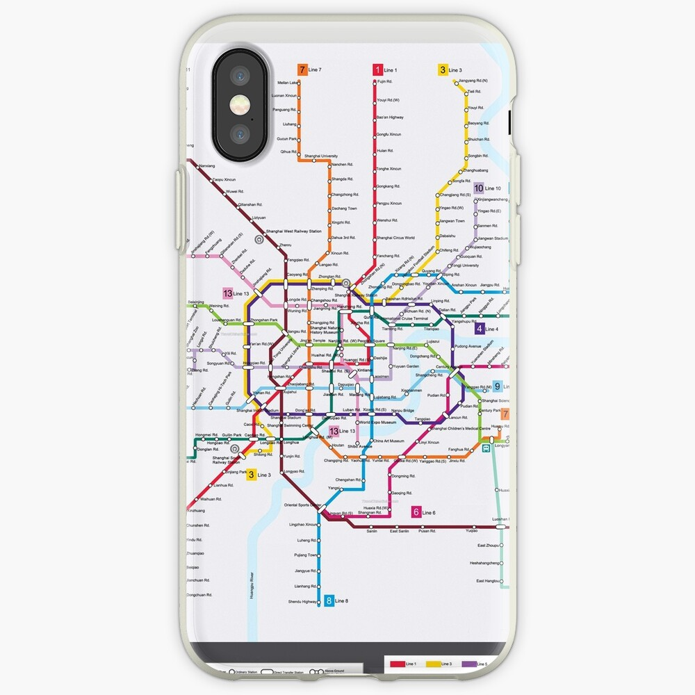 Subway Map In Shanghai.Shanghai Subway Map Iphone Case Cover