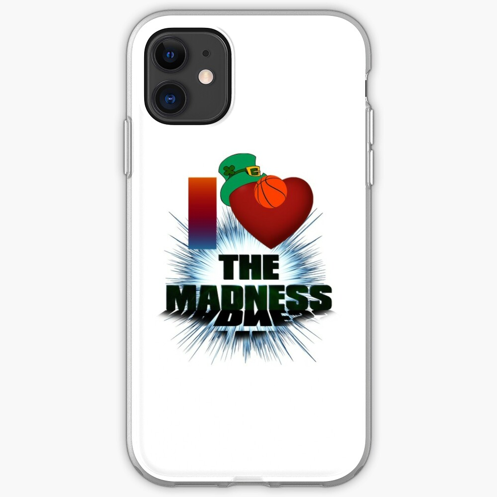 I Love The Madness Basketball Graphic Design iPhone Case & Cover