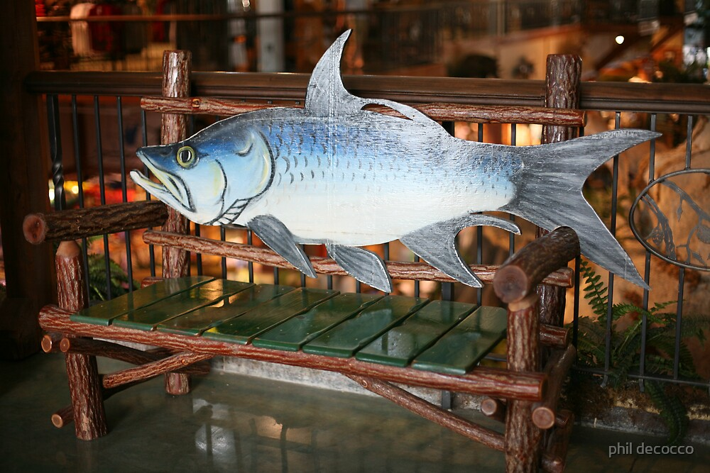 Fishing For A Spot On The Bench by phil decocco