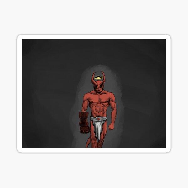 Hell boy (in hell) Sticker